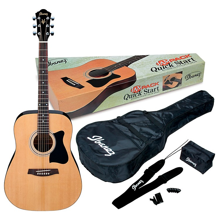 IbanezJamPack IJV50 Quickstart Dreadnought Acoustic Guitar PackNatural