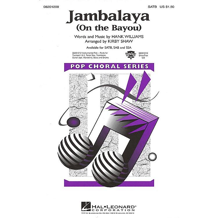Hal LeonardJambalaya (On the Bayou) SATB arranged by Kirby Shaw