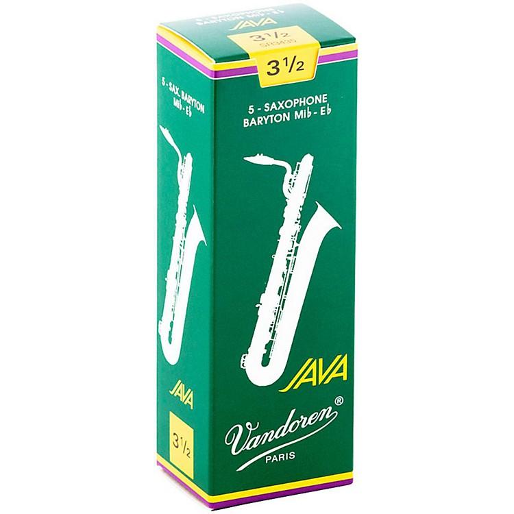 VandorenJava Green Baritone Saxophone ReedsStrength - 3.5, Box of 5