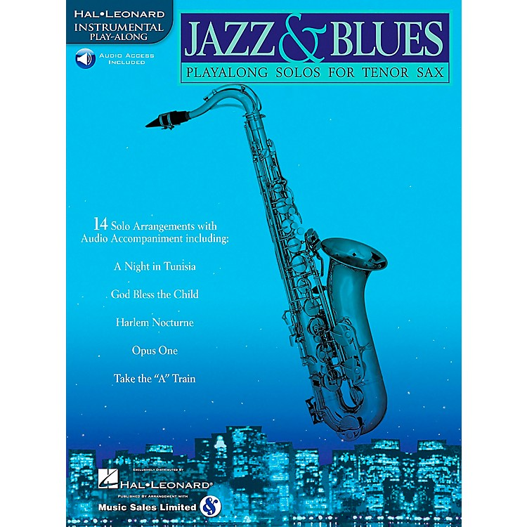 Hal LeonardJazz And Blues Playalong Solos for Tenor Sax Book/Online Audio