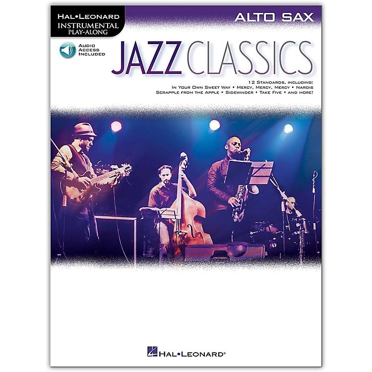 Hal LeonardJazz Classics For Alto Sax Instrumental Play-Along Book/Audio Online