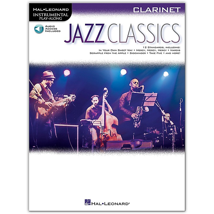 Hal LeonardJazz Classics For Clarinet - Instrumental Play-Along Book/Audio Online