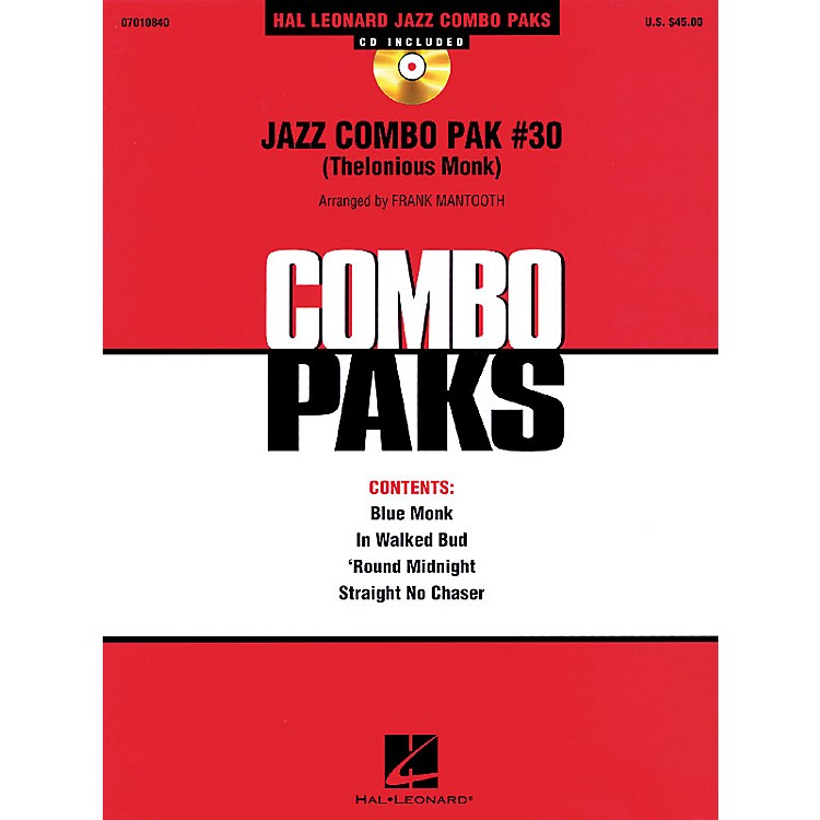 Hal LeonardJazz Combo Pak #30 (Thelonious Monk) Jazz Band Level 3 by Thelonious Monk Arranged by Frank Mantooth