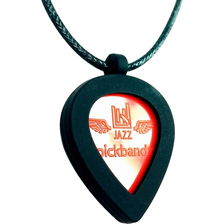 Pickbandz Jazz Guitar Pick Necklace Black