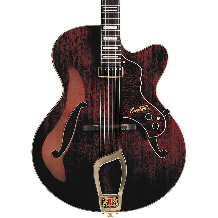 HagstromJazz Model Hl-550 Hollowbody Electric GuitarGloss Natural Mahogany