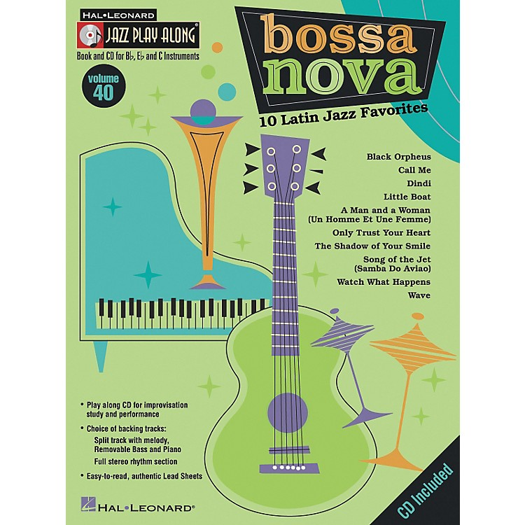 Hal LeonardJazz Play Along Series, Volume 40: Bossa Nova - 10 Latin Jazz Favorites (Book/CD)