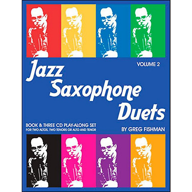 Jamey Aebersold Jazz Saxophone Duets Vol. 2 Book and CDs