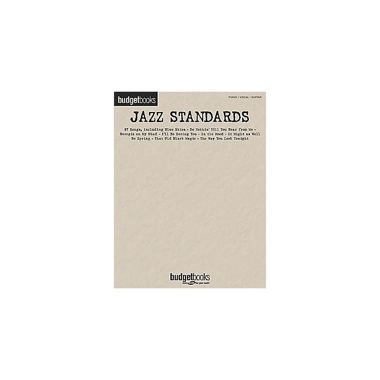 Hal LeonardJazz Standards Budget Piano, Vocal, Guitar Songbook