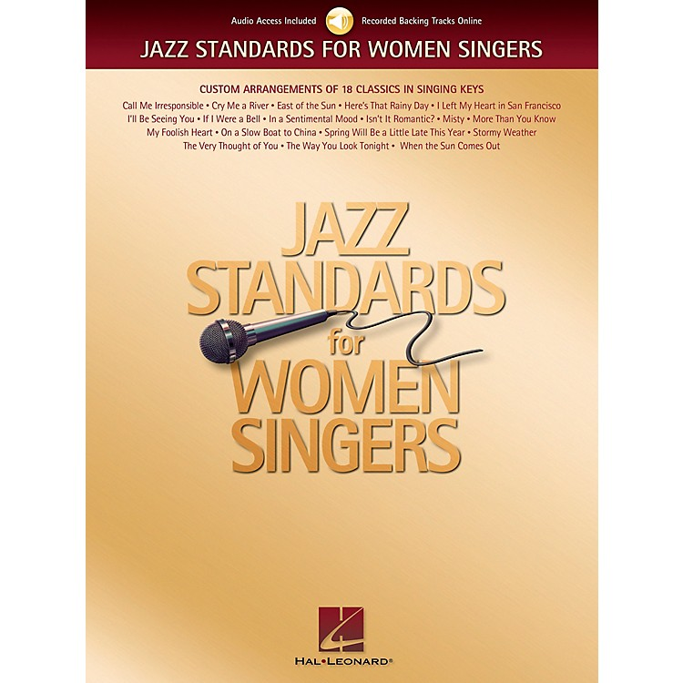 Hal Leonard Jazz Standards for Women Singers Book/CD