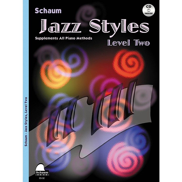 SCHAUMJazz Styles (Level Two Book/CD) Educational Piano Book with CD by John Revezoulis