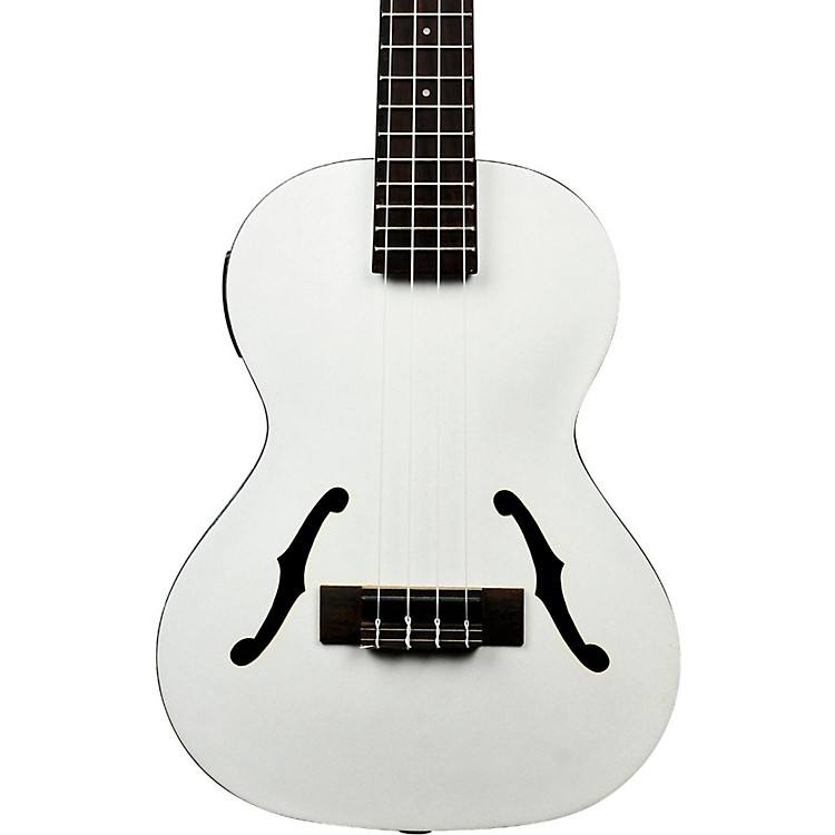 Kala Jazz Tenor Ukulele, Metallic White Metallic White