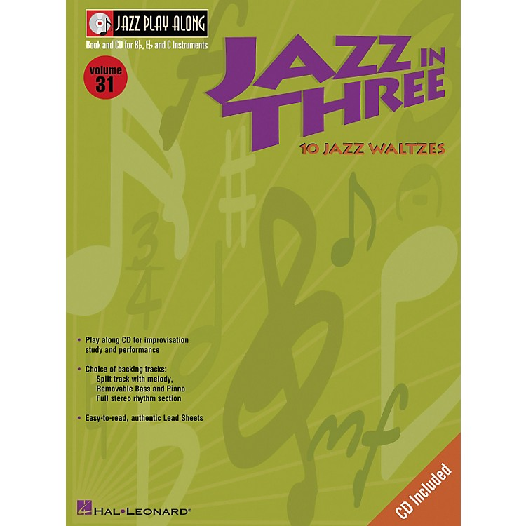 Hal Leonard Jazz in Three (Eb Instruments / C Instruments / Bb Instruments) (Book and CD Package)