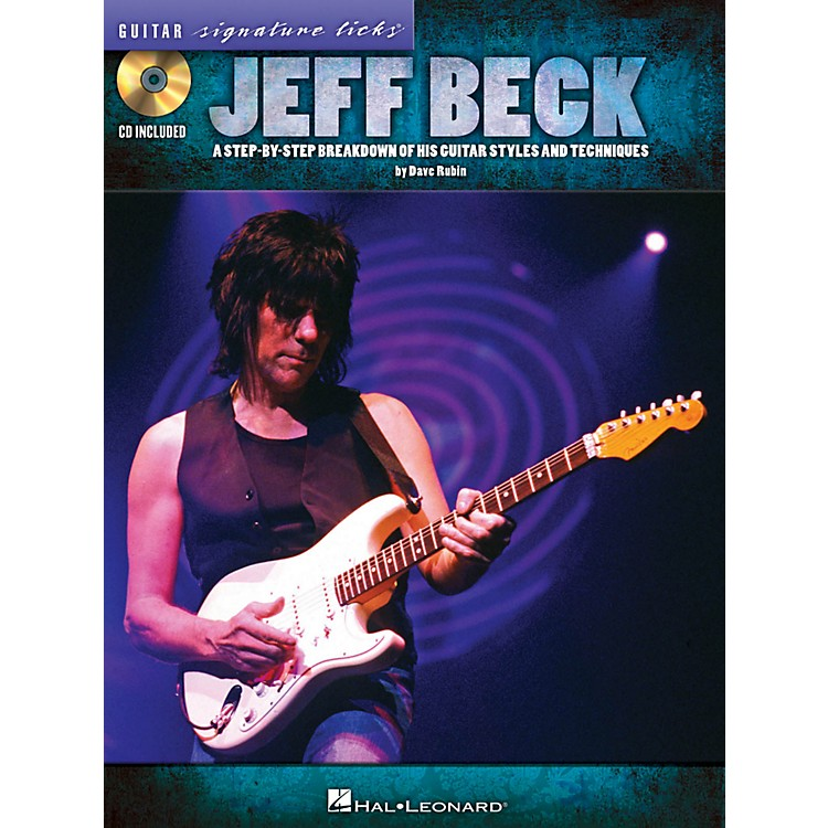 Hal Leonard Jeff Beck Guitar Signature Licks Book/CD