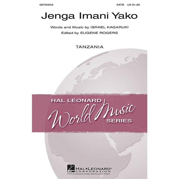 Hal LeonardJenga Imani Yako SATB composed by Israel Kagaruki