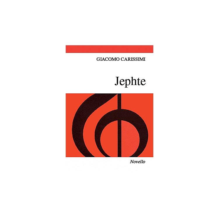 NovelloJephte (Vocal Score) SATB, Organ Composed by Giacomo Carissimi