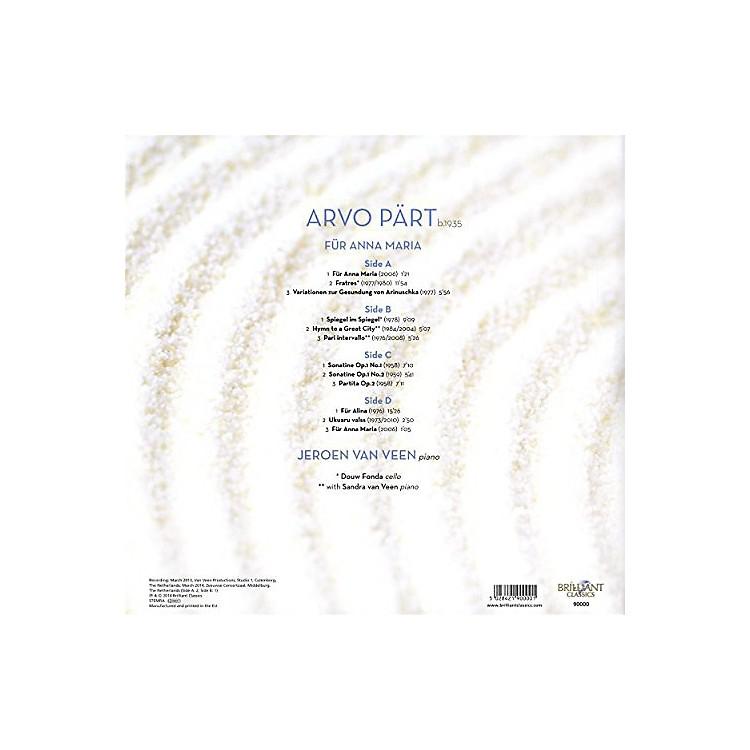 AllianceJeroen van Veen - Arvo P-RT: Fur Anna Maria Complete Piano Music