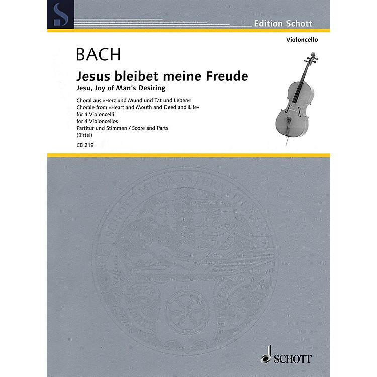 SchottJesu, Joy of Man's Desiring (Cello Quartet Score and Parts) Schott Series by Johann Sebastian Bach