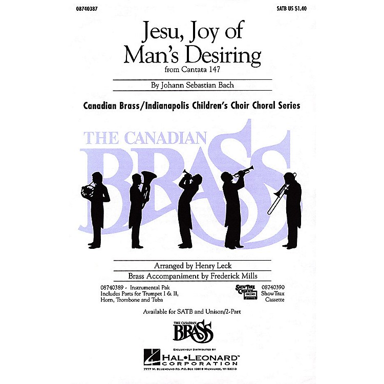 Hal LeonardJesu, Joy of Man's Desiring UNIS/2PT Composed by Johann Sebastian Bach