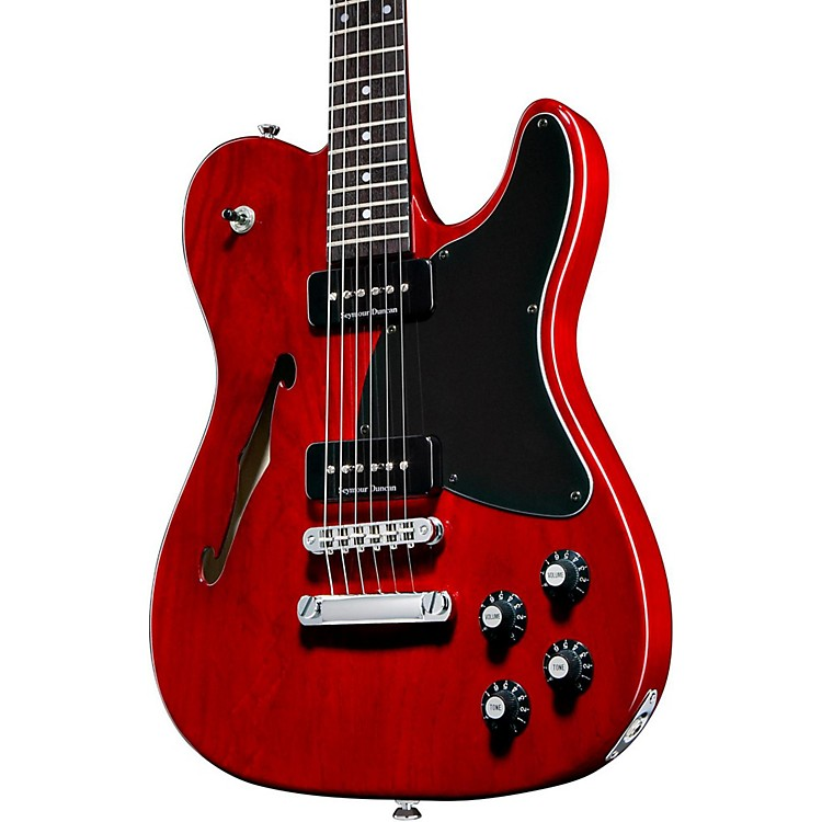 FenderJim Adkins JA-90 Telecaster Electric GuitarTransparent Crimson