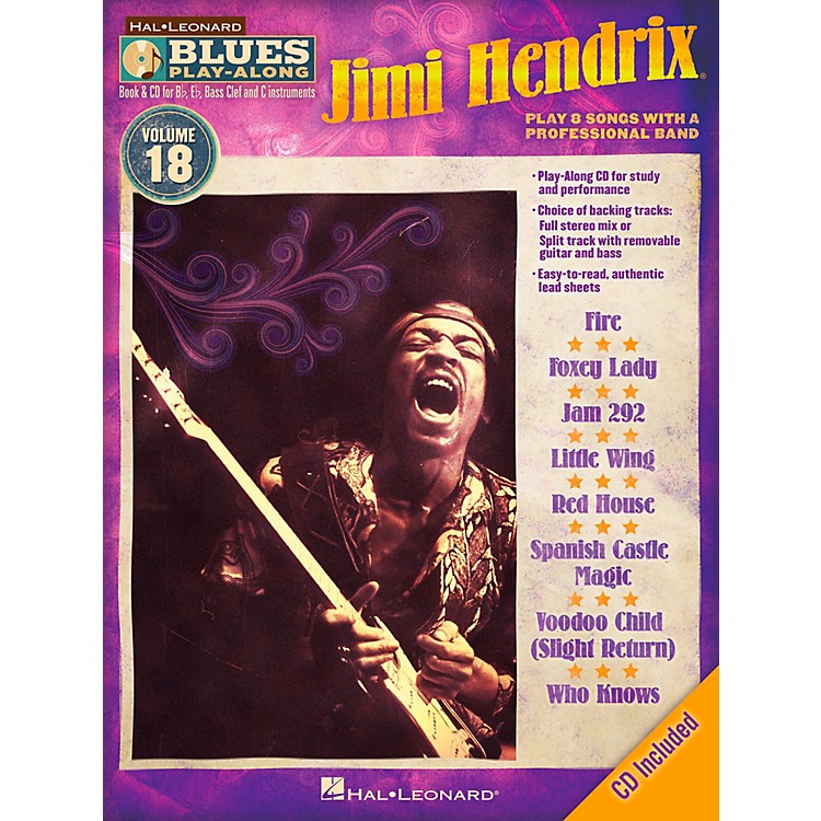 Hal LeonardJimi Hendrix - Blues Play-Along Volume 18 Book/CD