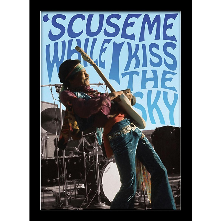 Ace FramingJimi Hendrix - Kiss The Sky 24x36 Poster