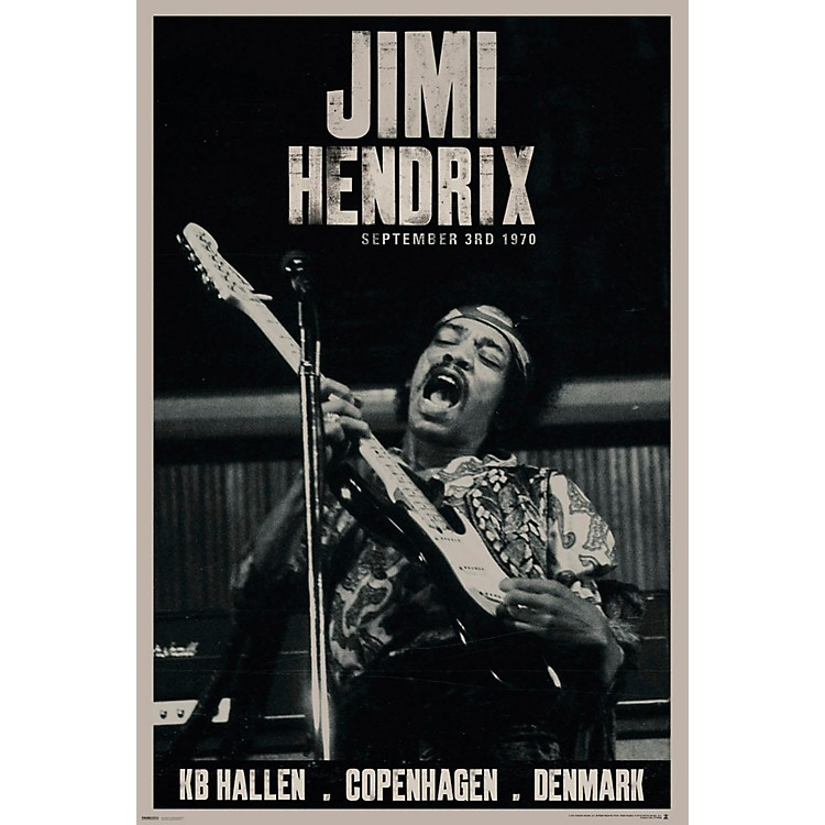 Hal LeonardJimi Hendrix - Live Copenhagen - Wall Poster