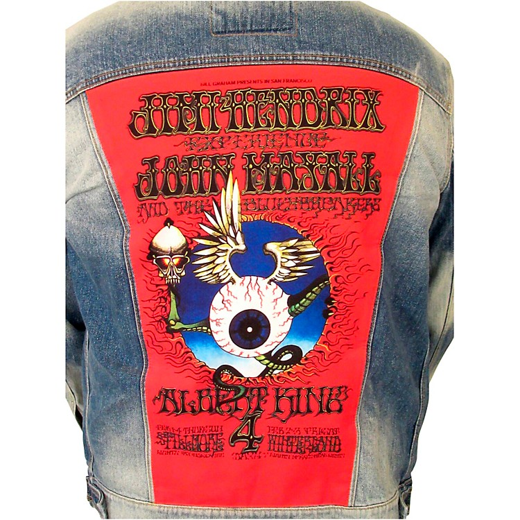 Dragonfly ClothingJimi Hendrix - Mayall - King - Flying Eye Denim JacketMedium