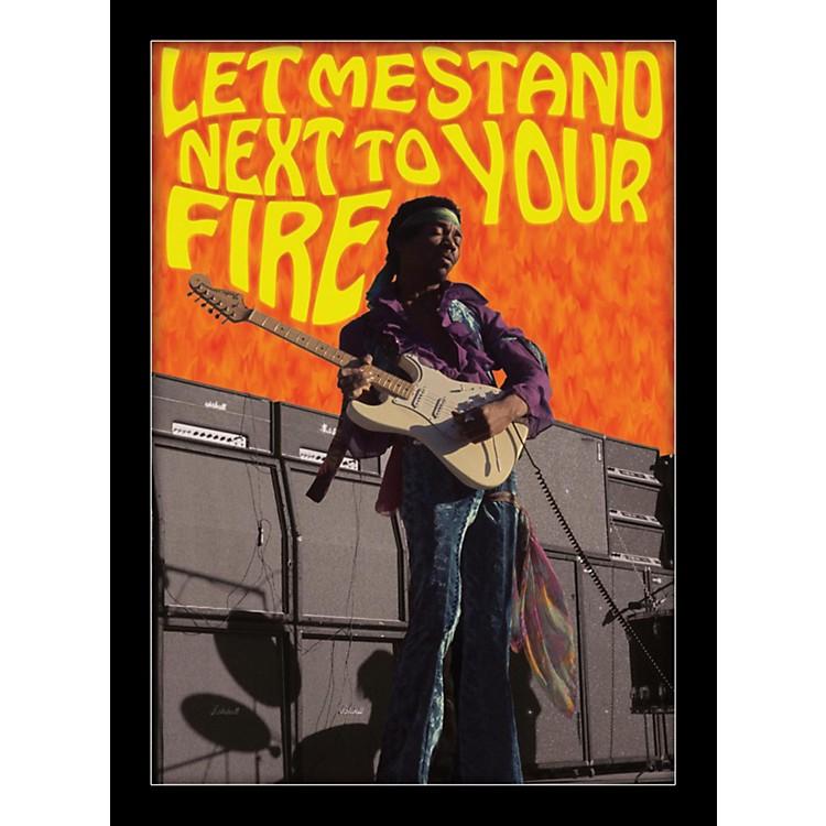 Ace FramingJimi Hendrix - Next To The Fire 24x36 Poster