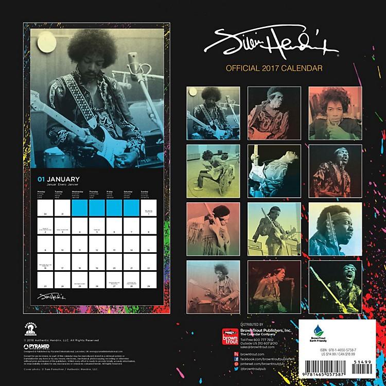 Browntrout PublishingJimi Hendrix 2017 Pyramid Calendar