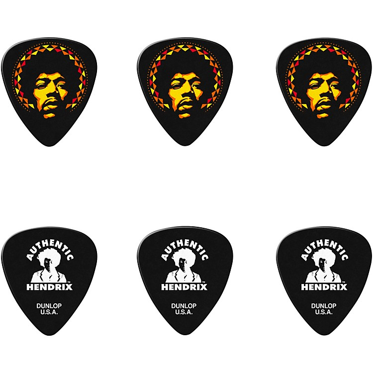 Dunlop Jimi Hendrix '69 Psych Series Guitar Picks & Tin Aura Mandala 6 Pack