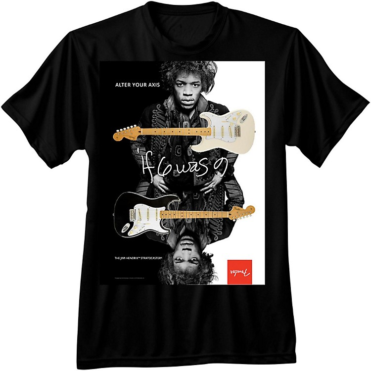 Fender Jimi Hendrix Collection Alter Your Axis T-Shirt Medium Black