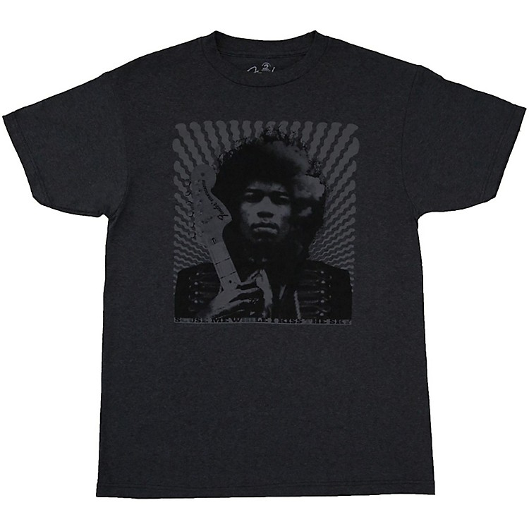 Fender Jimi Hendrix Collection Kiss the Sky T-Shirt Large Gray