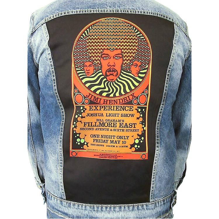 Dragonfly ClothingJimi Hendrix Experience 3 Faces - Psychedelic Womens Denim JacketSmall