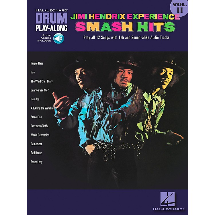 Hal Leonard Jimi Hendrix Experience Smash Hits Drum Play-Along Series Volume 11 Book with CD