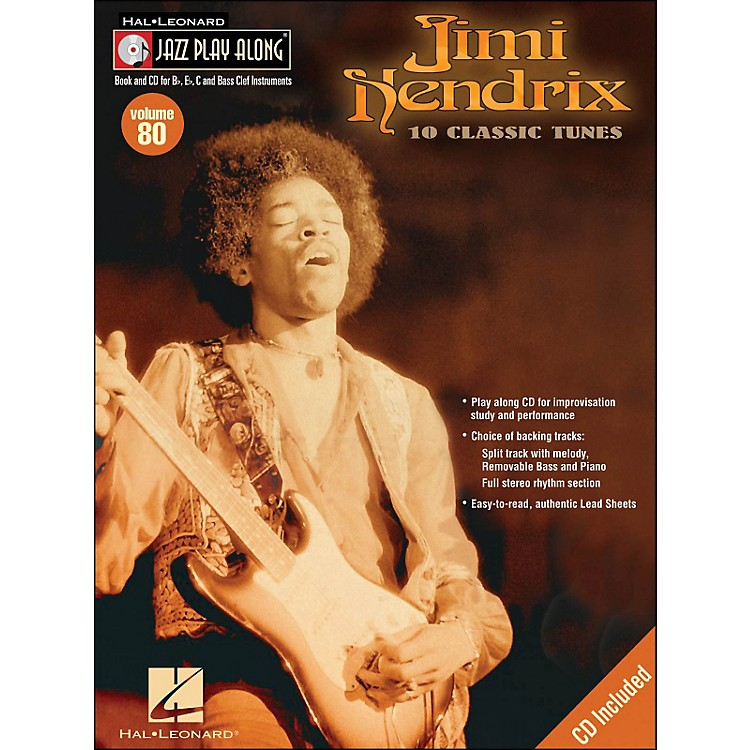 Hal Leonard Jimi Hendrix Jazz Play-Along Volume 80 Book/CD