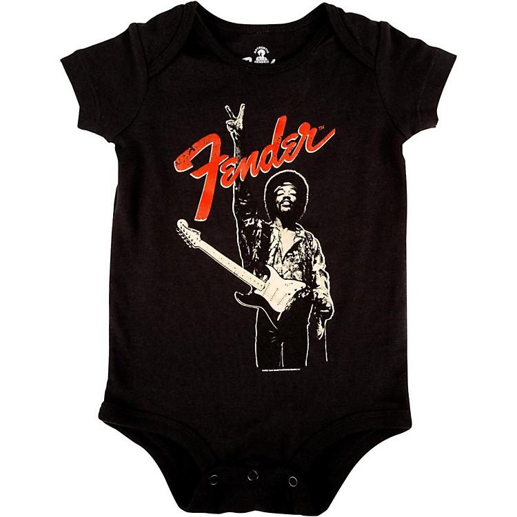 FenderJimi Hendrix Peace Sign OnesieBlack6-12 Month