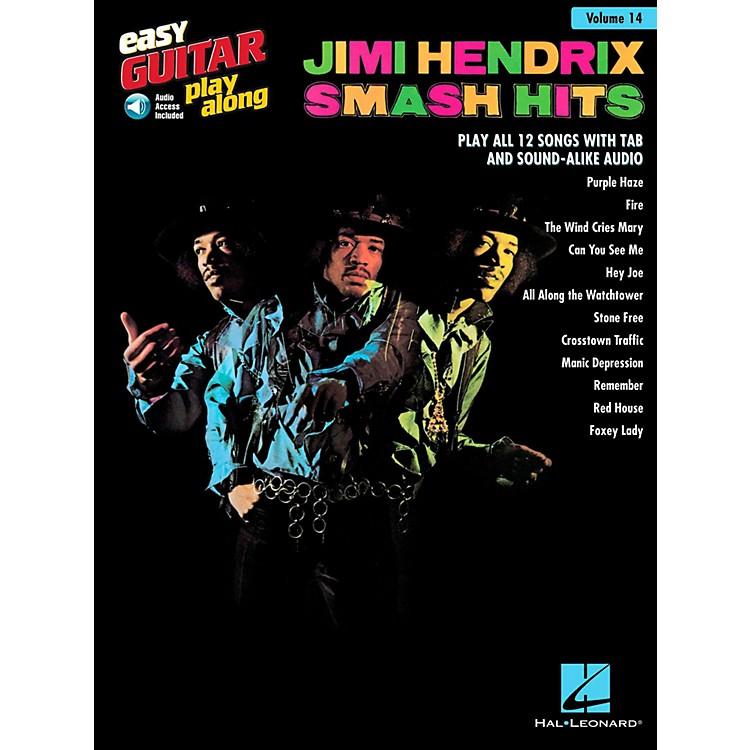 Hal LeonardJimi Hendrix Smash Hits - Easy Guitar Play-Along Volume 14 Book/Online Audio