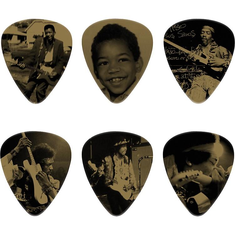DunlopJimi Hendrix West Coast Seattle Boy Pick Tin with 6 Heavy Picks