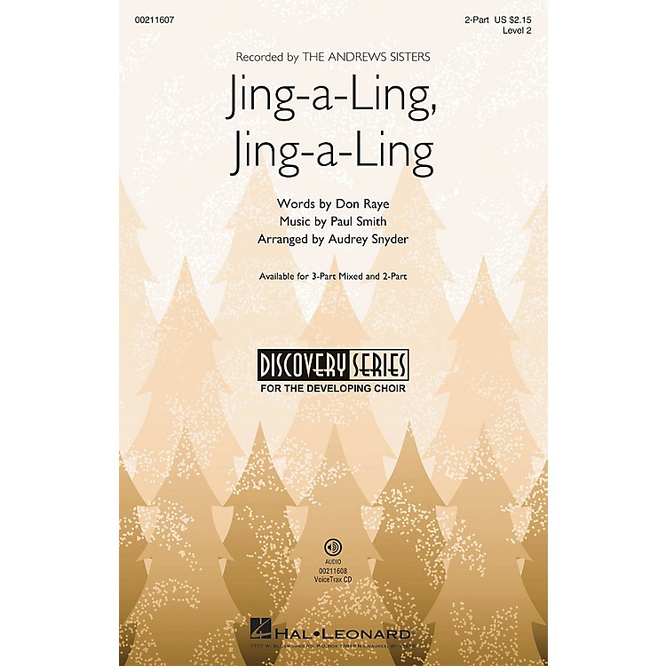 Hal LeonardJing-a-Ling, Jing-a-Ling (Discovery Level 2) 2-Part arranged by Audrey Snyder