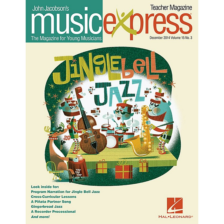 Hal LeonardJingle Bell Jazz Vol. 15 No. 3 (December 2014) Teacher Magazine w/CD Arranged by Emily Crocker