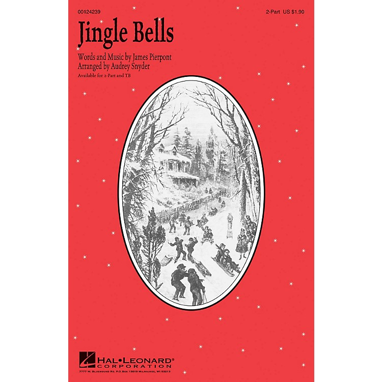 Hal Leonard Jingle Bells 2-Part arranged by Audrey Snyder
