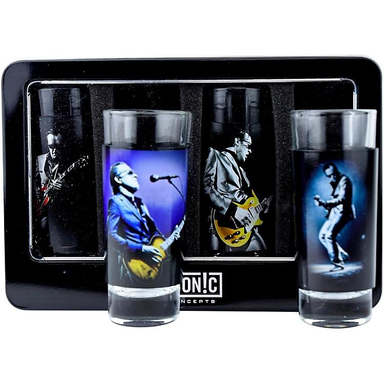 Iconic ConceptsJoe Bonamassa 4-Piece Shot Glass Set - Lithos Collection 1 & 2