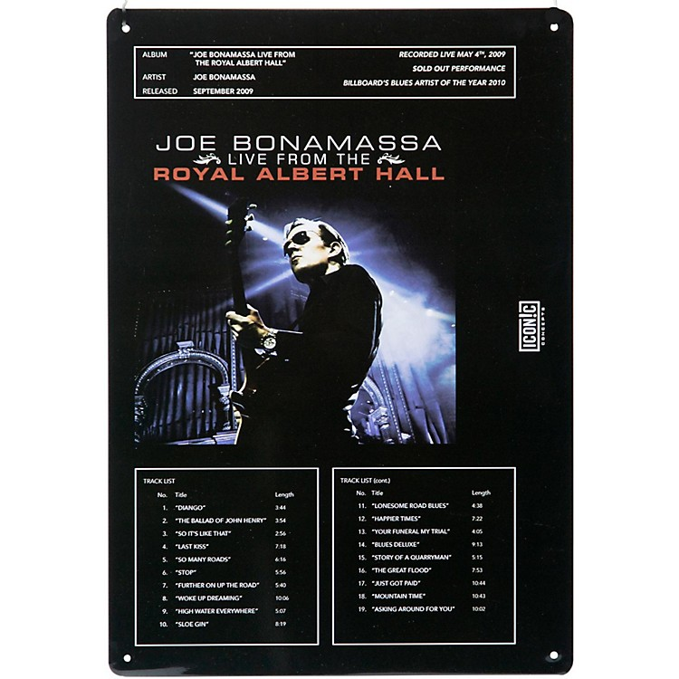 Iconic Concepts Joe Bonamassa Tin Sign - Royal Albert Hall