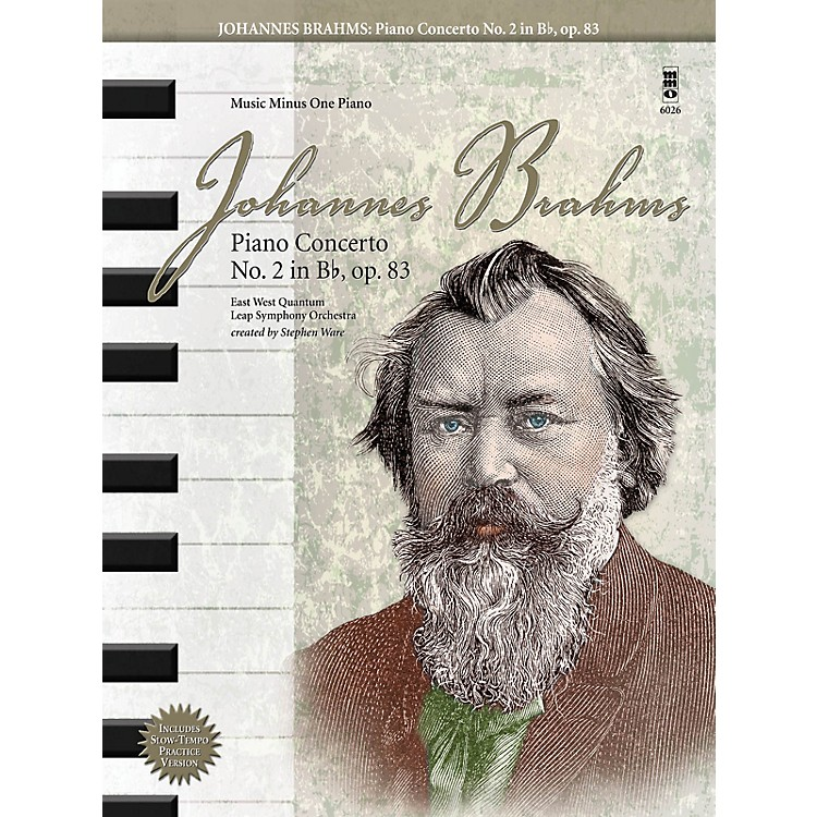 Music Minus OneJohannes Brahms - Piano Concerto No. 2 in B-Flat, Op. 83 Music Minus One Book with CD by Johannes Brahms