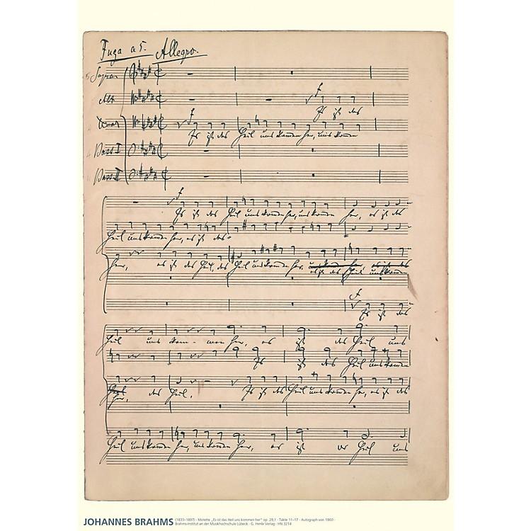 G. Henle VerlagJohannes Brahms Music Manuscript Poster Henle Music Folios Series by Johannes Brahms