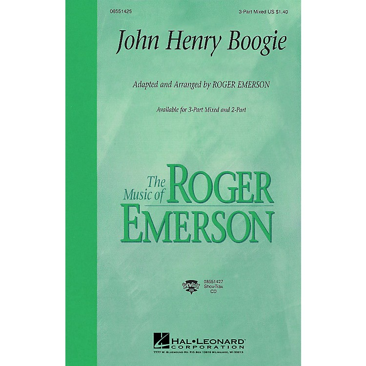 Hal LeonardJohn Henry Boogie 3-Part Mixed arranged by Roger Emerson