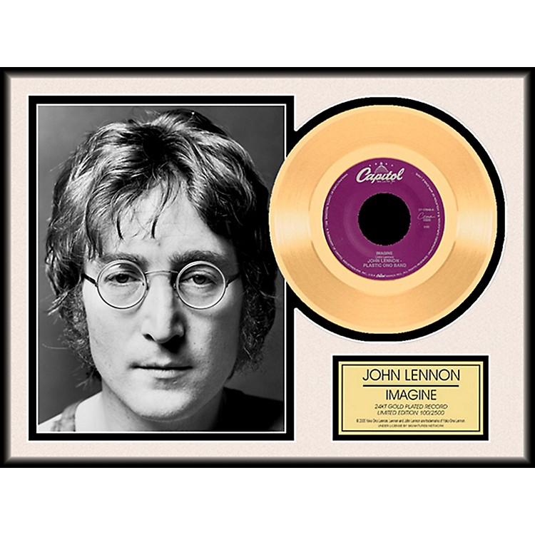 24 Kt. Gold Records John Lennon - Imagine Gold LP Limited Edition of 2,500
