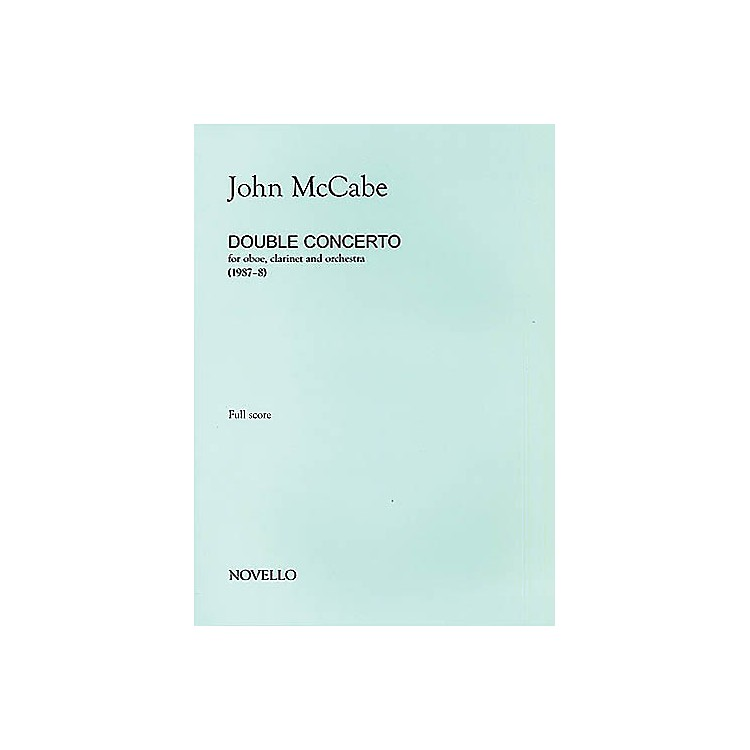 Music Sales John McCabe: Double Concerto For Oboe, Clarinet and Orchestra (Study Score) Music Sales America Series