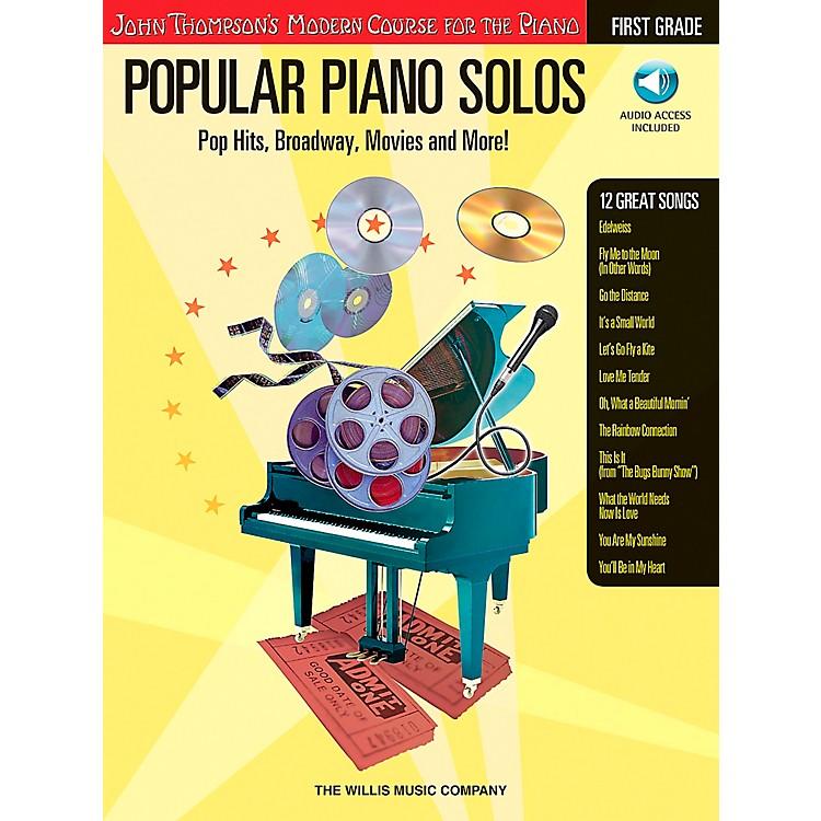 Willis MusicJohn Thompson's Modern Course for The Piano - Popular Piano Solos First Grade Book/CD