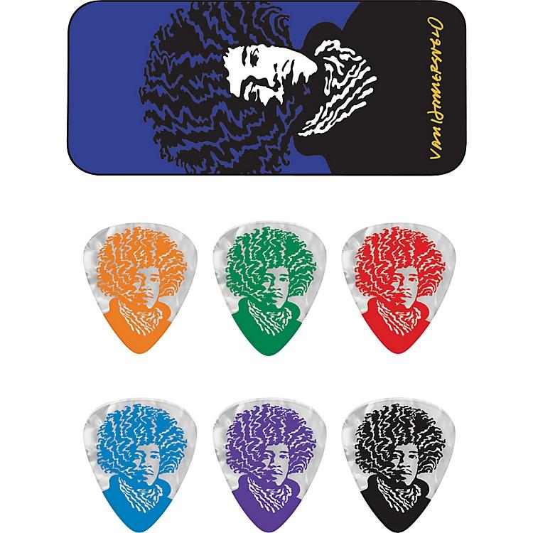DunlopJohn VanHanersvelt Jimi Pick Tin with 6 PicksMedium
